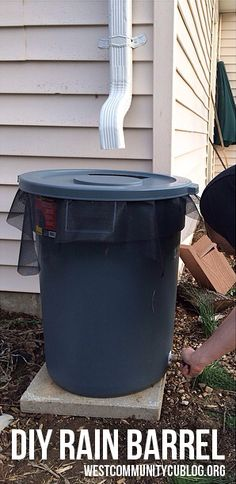 DIY Rain Barrel - Save money on your water bill this summer!
