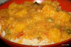 Curry vom Kürbis / Butternut-Squash-Curry / Slow cooker