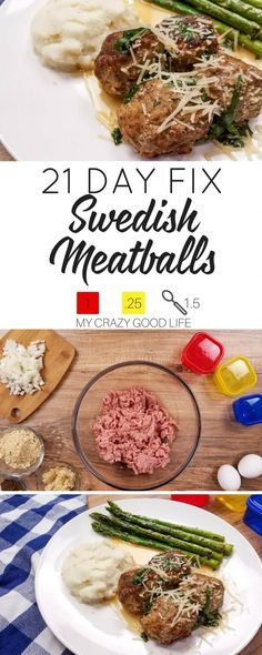 Looking for a healthier version of your favorite Swedish Meatballs recipe? I've got one for you! While this recipe will save you some calories, it doesn't compromise taste! | 21 Day Fix Swedish Meatballs Recipe (21 Day Fix Lunch Recipes)