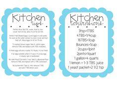Kitchen tips printable