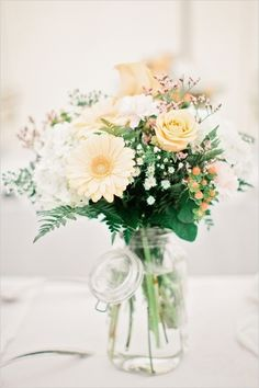 Rustic Wedding Flowers but pink