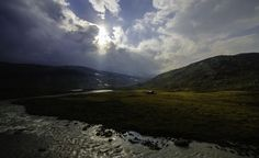 Photo taken through the double-glazed windows of a moving train on the Oslo to Bergen Railway by David Quinn