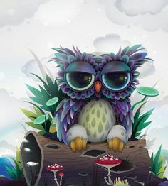 Baby ColorFul Owl