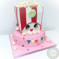 Shopkins! Poppy Popcorn cake.