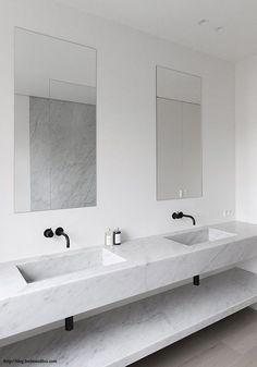 BODIE and FOU Style Blog, 5 Sleek, modern Bathrooms & Mirrors http://blog.bodieandfou.com/