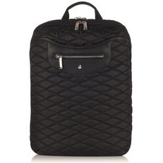 """Montague Laptop Backpack from KNOMO: Official Store   Women's 15"""" Laptop Bag   Black Quilted Backpack   Laptop Bags  Weekender Bag   Designed by KNOMO London"""