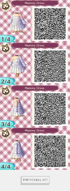 Les qr codes robes : - Animal Crossing New Leaf Animal Crossing Qr Codes Clothes, New Animal Crossing, Acnl Standee Qr Codes, Gato Animal, Motif Acnl, Leaf Animals, Ac New Leaf, Post Animal, Coding