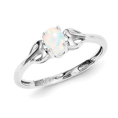 Rhodium plated sterling silver ring features oval created opal and heart shaped shanks. Sterling Silver Opal Ring, Ring Crafts, Opal Rings, Heart Shapes, Engagement Rings, Create, Jewelry, Jewellery Making, Wedding Rings