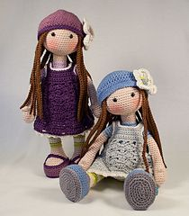 This listing is for an extensive PDF file which contains full instructions for crocheting and finishing off the doll LILLY.