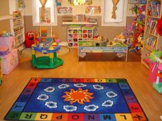 love the rug but I think there's too many open options for kids.  It would be chaotic.