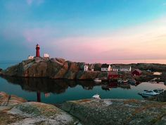 Norway, you so magical. Sunday Funday, Lighthouse, Twilight, Norway, Seaside, Ocean, River, Sunset, Outdoor