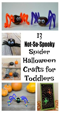 13 spider halloween crafts for toddlers