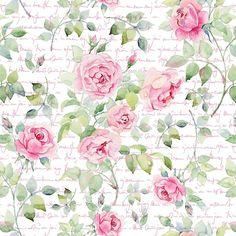 Papel de Parede Flores Rosa com Fundo Es | JMI DECOR | Elo7
