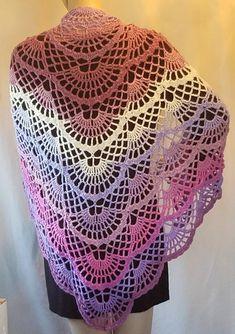 Ravelry: Butterfly Shawl pattern by Kriss Krochet (lion brand, wool ease, Aphrodite. Poncho Au Crochet, Crochet Shawl Diagram, Crochet Shawls And Wraps, Crochet Scarves, Crochet Clothes, Crochet Lace, Crochet Stitches, Crochet Granny, Knitting Patterns