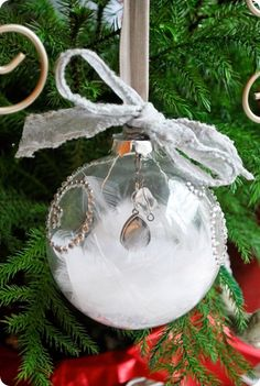 Deck The Halls: Glass Feather Ornament
