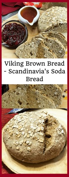 Viking Brown Bread - Scandinavian Soda Bread is a rustic soda bread from Scandinavia, not very different from the Irish version. It's perfect with a bowl of soup or stew! Scandinavian Bread Recipe, Nordic Recipe, Scandinavian Food, Old Cake Recipe, Kringle Recipe, Medieval Recipes, Viking Recipes, Viking Food, Swedish Recipes