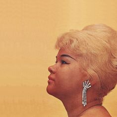 """""""And as I started reaching deeper I realized that most of the blues of that day was done by men. Women just didn't have the nerve."""" — Etta James • photo uncredited • 1960 • This image was used as a cover photo for James' album, At Last!"""