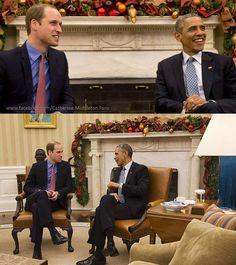 #RoyalVisitUSA - Prince William, Duke of Cambridge met President Obama in Washington DC.