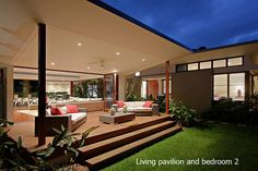 Barefoot at Broken Head - Byron Bay - Northern Rivers and Byron Bay, NSW Patio Roof, Backyard Patio, Backyard Cabana, Alfresco Designs, Alfresco Ideas, Covered Patio Design, Pergola Plans, Pergola Ideas, Pergola Kits