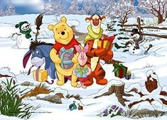 Disney Winnie the Pooh 500 Pieces Jigsaw Puzzle Tigger Winnie The Pooh, Winnie The Pooh Christmas, Winnie The Pooh Quotes, Winnie The Pooh Friends, Snoopy Christmas, Mickey Mouse And Friends, Pooh Bear, Disney Christmas, Christmas Art
