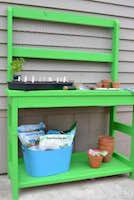 Potting Bench, potting benches,gardening benches,diy,free woodworking plans,free projects,do it yourself