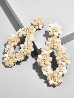 Tulipa Sequin Drop Earrings