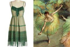 10 Fine-Art Inspired Dresses To Turn Any Closet Into A Museum - Edgar Degas - Dancer Tilting, 1883
