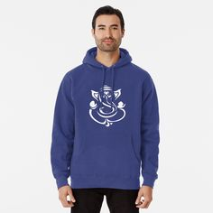 """GANESHA - HINDU GOD GANESH "" Mask by Trisha2k   Redbubble Fleece Hoodie, Pullover, Iphone Case Covers, Shirt Style, Chiffon Tops, Hooded Jacket, Classic T Shirts, Zoe Kravitz, Hoodies"