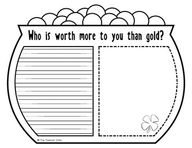 Who is worth more to you than gold?  http://www.teacherspayteachers.com/Product/Worth-More-Than-Gold-A-Writing-Craftivity
