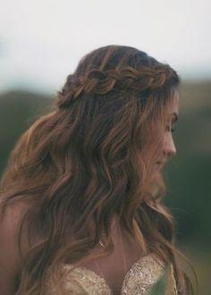 Boho braid - Dreamy Down 'dos - Wedding Hair 2014 - Wedding Blog | Ireland's top wedding blog with real weddings, wedding dresses, advice, wedding hair s...