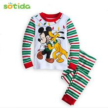 Sotida Christmas Clothes Sets 2016 New Fashion Baby Boys Girls Clothes T-shirt + Casual Long Pants 2pc Kids Clothing Sets(China (Mainland))