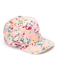 Pink Floral Baseball Cap. Wish I could find one of these for my sister in law!  /sg