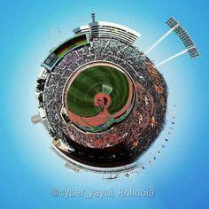 Planet National Olympic Stadium (Tokyo) in 2014 Fuji Xerox Super : Sanfrecce Hiroshima F.Cvs Yokohama F.Marinos by cyber_yayoi 360 Degree Photography, J League, Little Planet, Yayoi, Yokohama, Fuji, Cyber, Olympics
