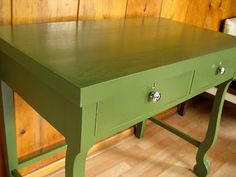 Paint desk green.