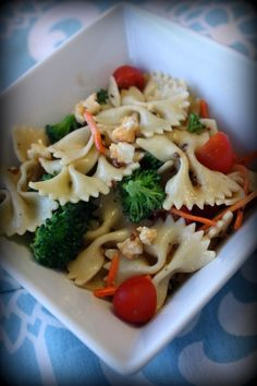 Easy Pasta Salad -switch out fresh and/or frozen veggies as available. Saving Money Living Life