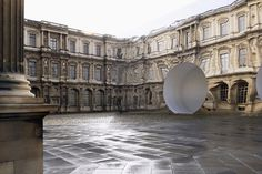 bureau betak has realized a colossal mirror-clad structure situated within the louvre's 'cour carrée' for dior's FW16 presentation in paris.