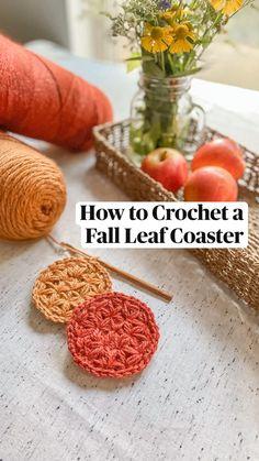 Crochet Fall, Crochet Home, Cute Crochet, Crochet Motif, Crochet Designs, Crochet Crafts, Diy Crochet Projects, Crochet Ideas, Yarn Projects