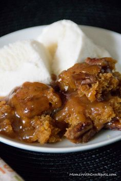 This recipe is so simple to make and marries pumpkin and pecan so beautifully it has to be made! You have never had anything like this Crockpot Pumpkin Pecan Cobbler. A must have for Thanksgiving.