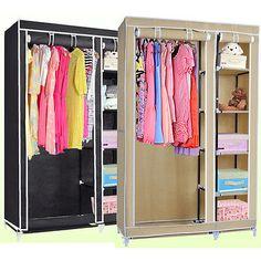 neatfreak double hanging armoire with shelves Armoire Design, Canvas Wardrobe, Home Furniture, Furniture Storage, Garment Racks, Hanging Rail, 2015 Trends, Design Trends, Shelves