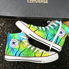 Items similar to Custom Tropical Painted Converse, Personalized Handpainted Coconut Tree Shoes, Floral Wedding Converse, Custom Summer Wedding Sneakers on Etsy Painted Converse, Painted Canvas Shoes, Painted Sneakers, Hand Painted Shoes, Floral Converse, Cute Converse, Converse Sneakers, Wedding Sneakers, Wedding Converse