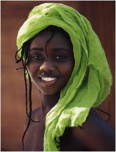 Green Headdress & a Beautiful Smile ....