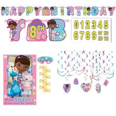 NEW 25 pc Disney DOC McSTUFFINS Lambie Stuffy Chilly Hallie  Stickers  SAVVI