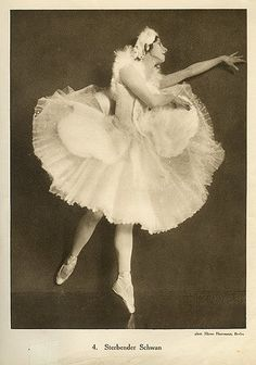 Anna Pavlova, costume by Leon Bakst for Swan Lake, 1905 by Gatochy, via Flickr