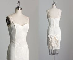 90s Vintage White Lace Ruffle And Bow Mini Dress / by decades, $84.00