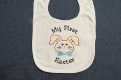 My First Easter Bunny by LMTEmbroideryDesigns on Etsy My First Easter, Applique Designs, Embroidery Applique, Easter Bunny, Trending Outfits, Handmade Gifts, Etsy, Kid Craft Gifts, Craft Gifts