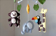 Baby Crib Mobile  Baby Mobile  Nursery Jungle