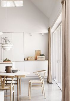 Natural wood & white kitchen: A Scandinavian home in the countryside | BODIE and FOU