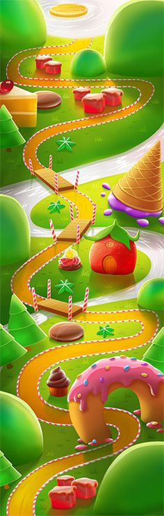 Candy Island Adventure on Behance