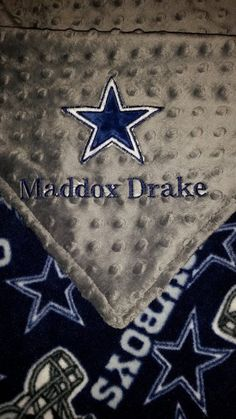 Personalized Dallas Cowboys baby blanket by GunnyBunnyBoutique