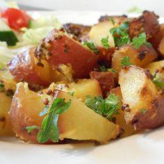 Mosterd-citroen krieltjes uit de oven / mustard-lemon potatoes casserole - Het keukentje van Syts